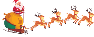 Joulupukki ja porot