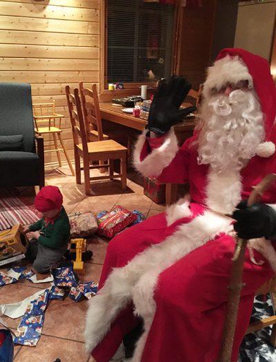 Aito vanhan ajan joulupukki Levillä ja Ylläksellä